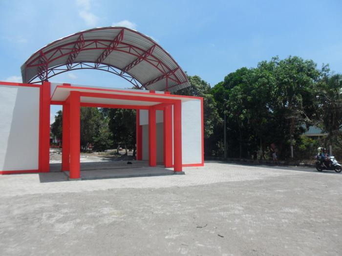 Pembangunan pusat kuliner di lahan bekas Kantor Dinas Lingkungan Hidup (DLH) Kota Blitar, yang akan segera dilanjutkan.